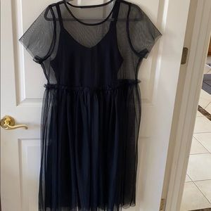 Black plus size party dress